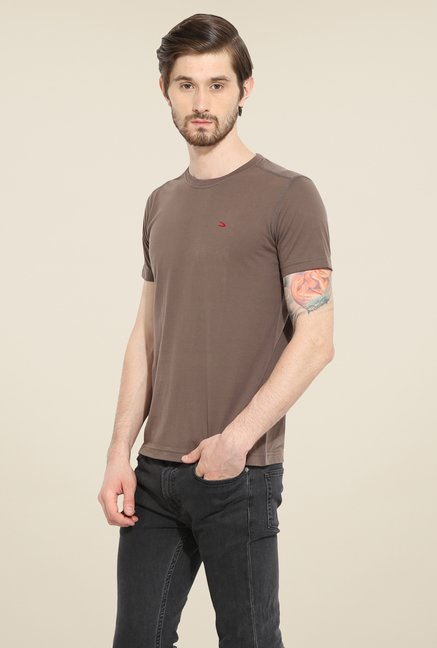 Duke Stardust Brown Solid T Shirt
