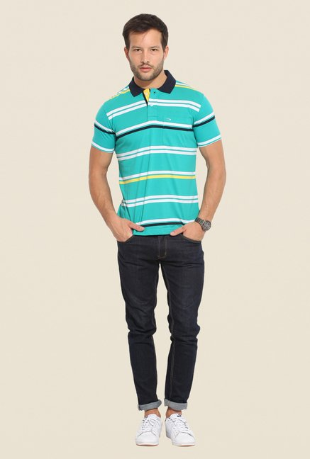 Duke Stardust Blue Striped T Shirt