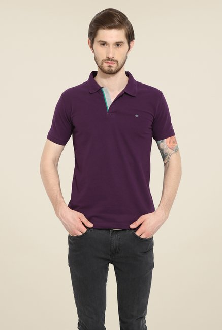 Duke Stardust Purple Solid T Shirt