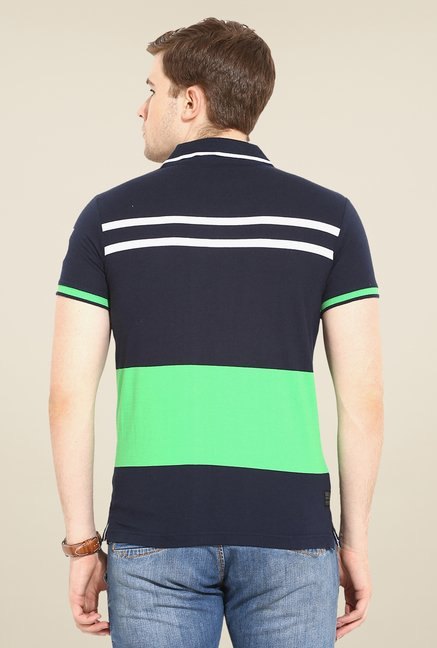 Duke Stardust Navy Striped T Shirt