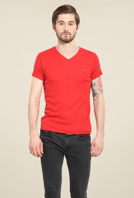 Duke Stardust Red Solid T Shirt