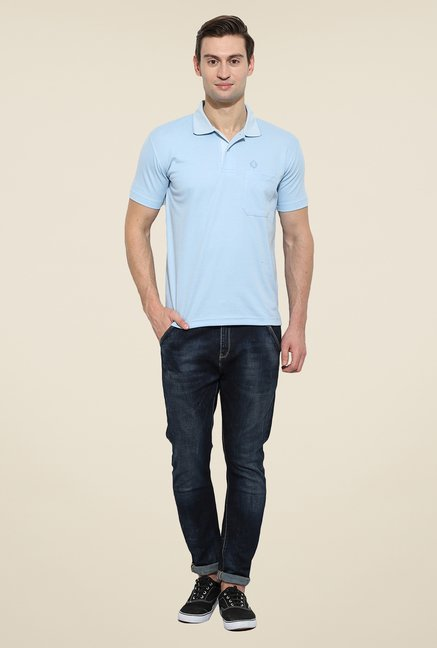 Duke Stardust Sky Blue Solid T Shirt