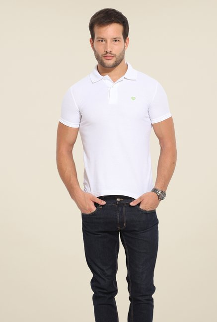 Duke Stardust White Solid T Shirt