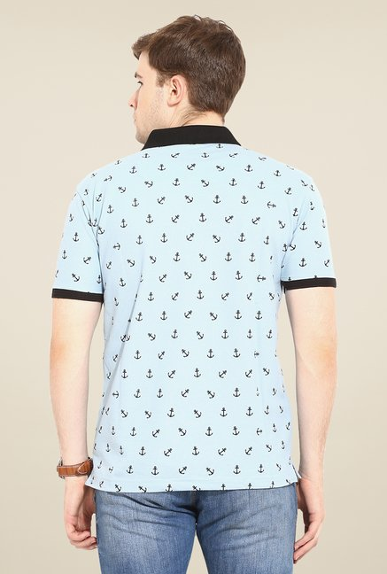 Duke Stardust Sky Blue Printed T Shirt