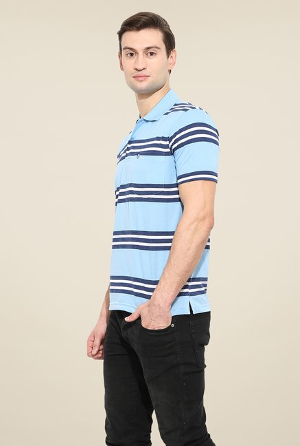 Duke Stardust Sky Blue Striped T Shirt
