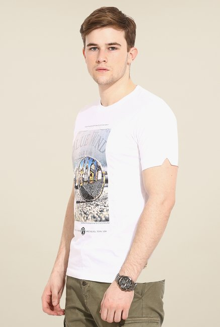 Duke Stardust White Graphic Print T Shirt