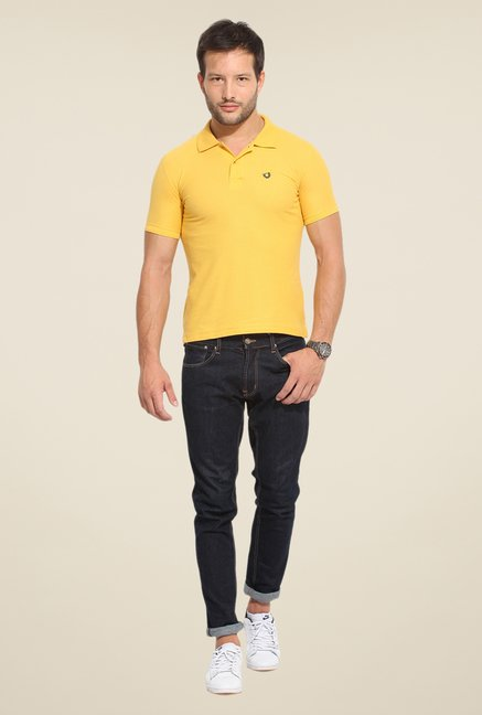 Duke Stardust Yellow Solid T Shirt