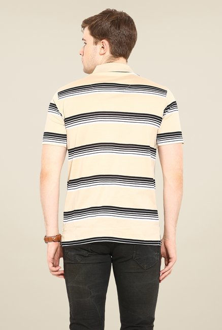 Duke Stardust Beige Striped T Shirt