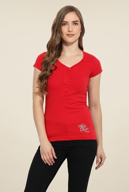 Duke Stardust Red Solid Top