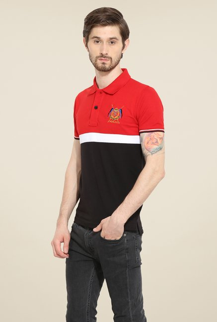 Duke Stardust Black & Red Solid T Shirt