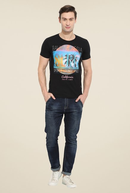 Duke Stardust Black Graphic Print T Shirt