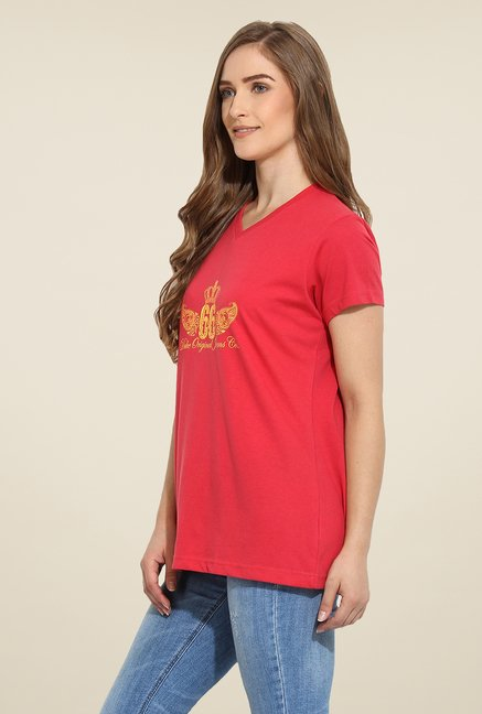Duke Stardust Red Printed Top