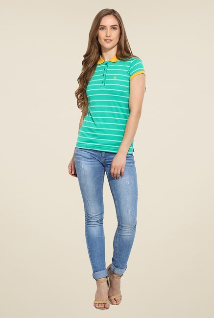 Duke Stardust Teal Striped T Shirt