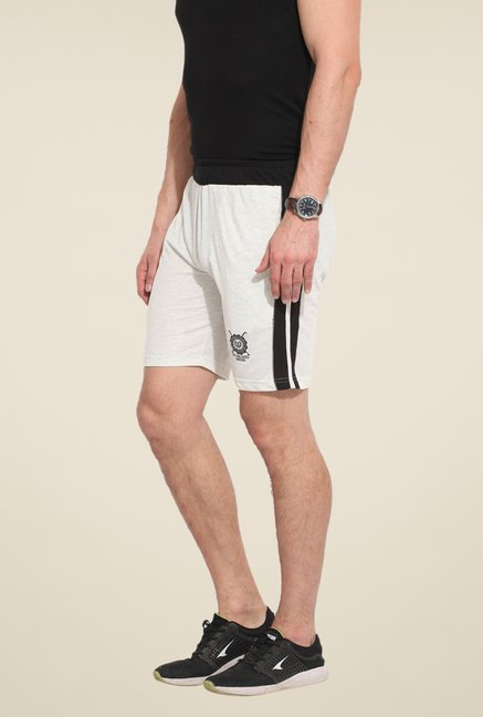 Duke Stardust White Solid Shorts