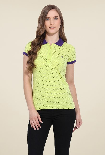 Duke Stardust Yellow Heart Print T Shirt