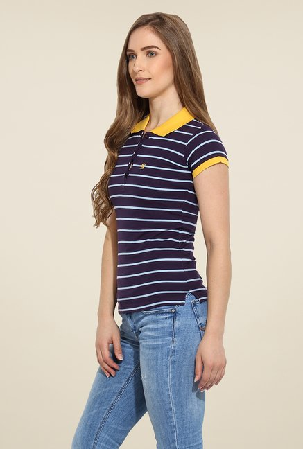 Duke Stardust Purple Striped T Shirt