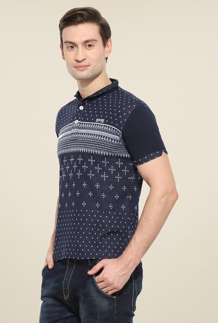 Duke Stardust Navy Printed T Shirt