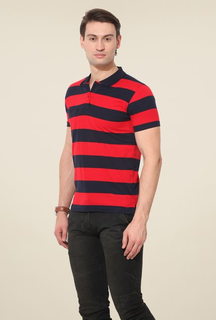 Duke Stardust Multicolor Striped T Shirt (Pack of 2)