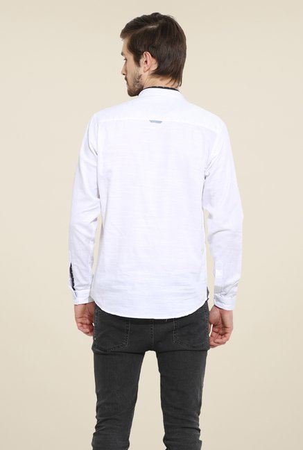 Duke Stardust White Solid Shirt