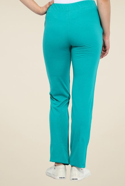 Duke Stardust Teal Solid Track Pants