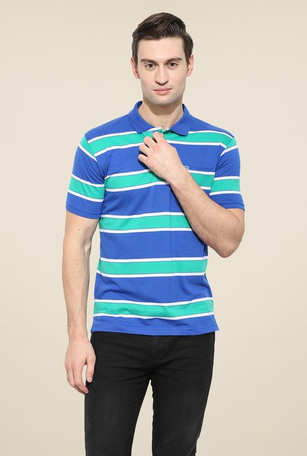 Duke Stardust Blue & Green Striped T-shirt
