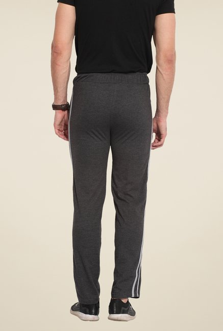 Duke Stardust Grey Solid Track Pant