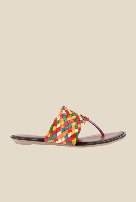 Catwalk Multicoloured T-Strap Sandals
