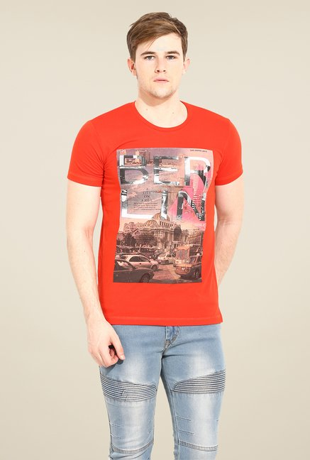 Duke Stardust Orange Graphic Print T Shirt