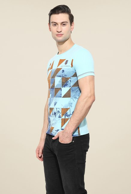 Duke Stardust Blue Printed T Shirt