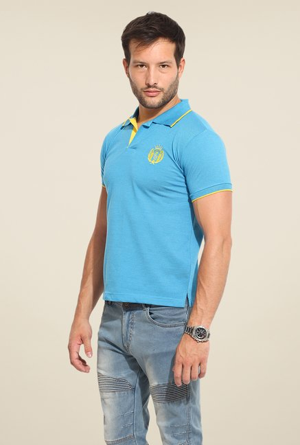 Duke Stardust Blue Solid T Shirt