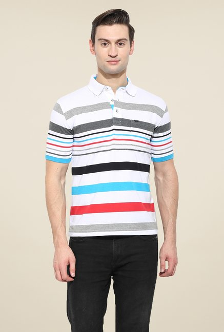 Duke Stardust White Striped T Shirt