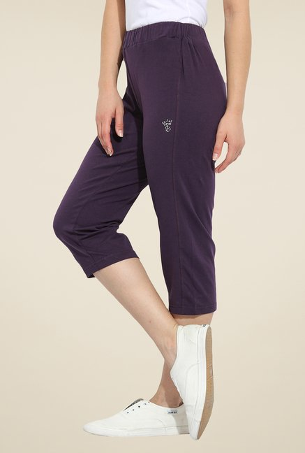 Duke Stardust Purple Solid Capris