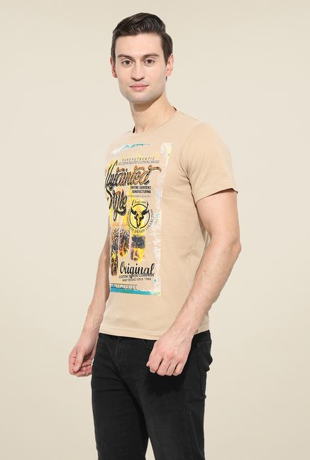 Duke Stardust Beige Graphic Print T Shirt