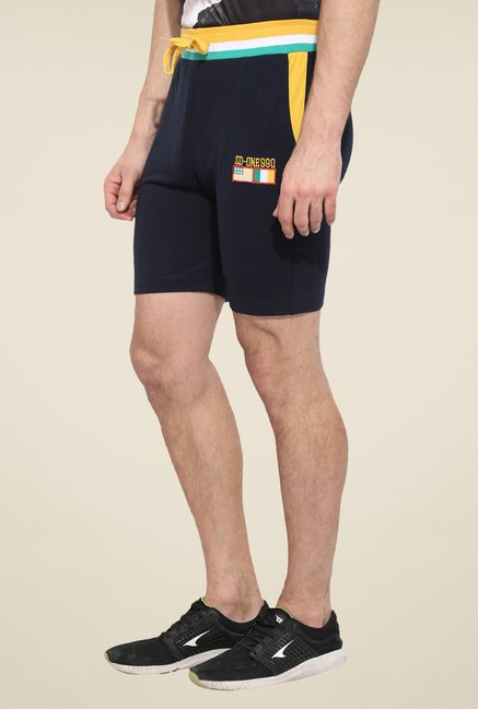 Duke Stardust Navy Solid Shorts