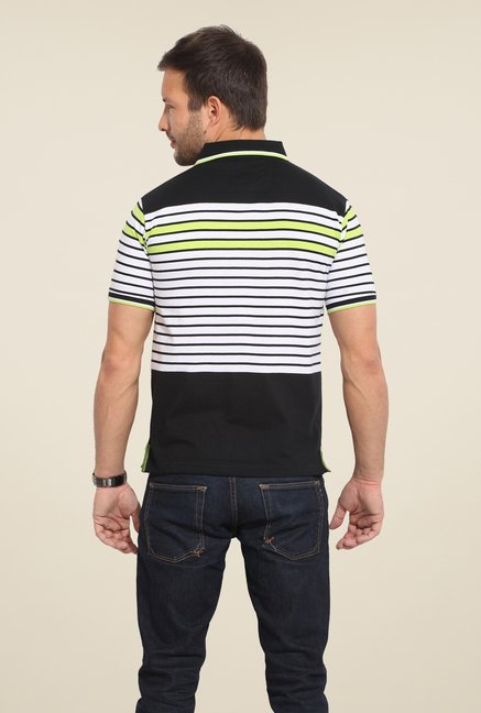Duke Stardust Black & White Striped T Shirt