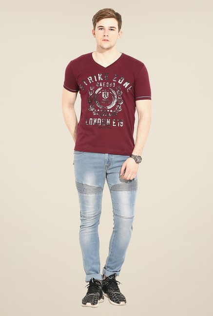 Duke Stardust Maroon Graphic Print T-shirt