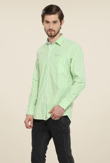 Duke Stardust Green Checks Shirt