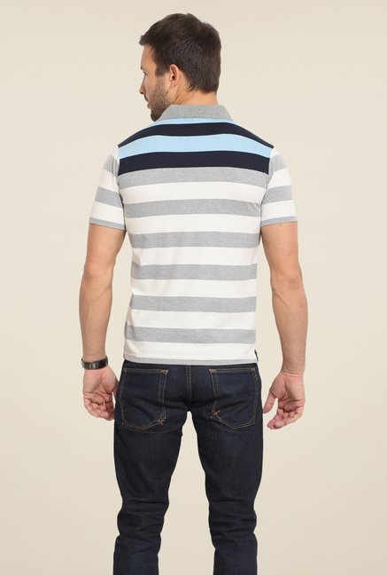 Duke Stardust White & Grey Striped T-shirt