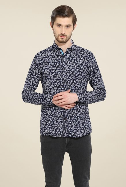 Duke Stardust Navy Printed Shirt