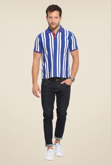 Duke Stardust Indigo & White Striped T-shirt