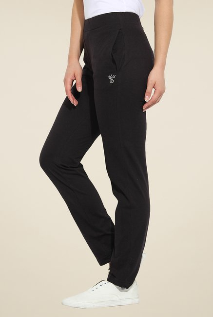 Duke Stardust Black Solid Track Pants