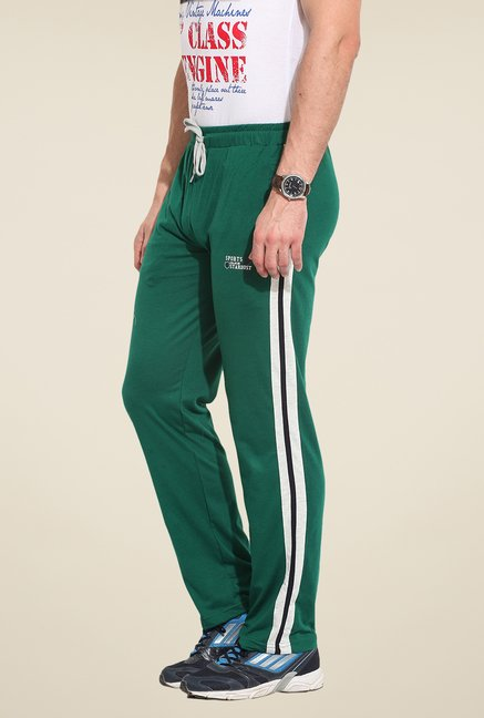 Duke Stardust Green Solid Track Pant
