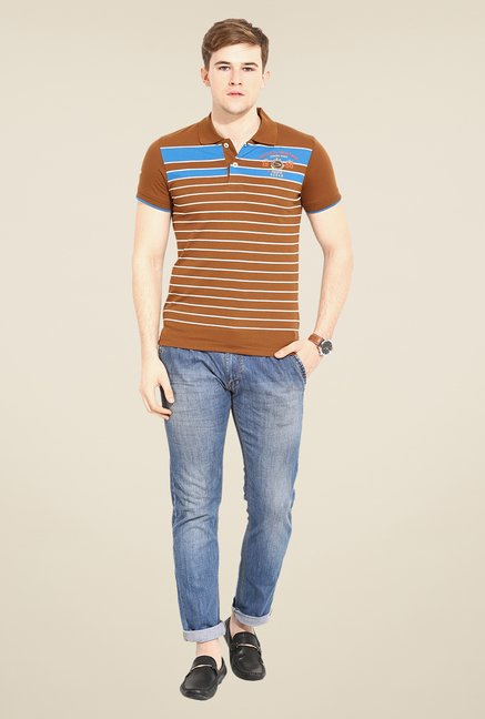 Duke Stardust Brown Striped T-shirt