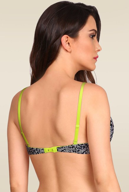 Jockey Imperial Blue & Neon Yellow Wired Push-Up Bra - FP45