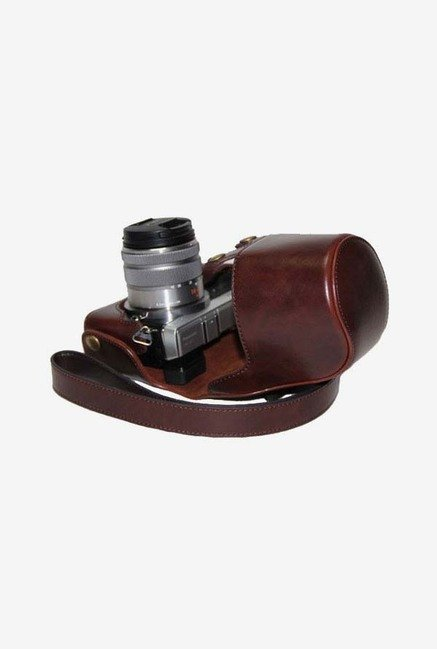 Megagear Leather Camera Case for Panasonic Lumix GX7 (Brown)