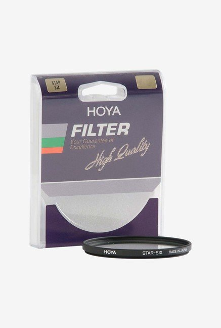 Hoya 6 Point Cross Screen Glass Filter (Black)
