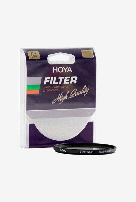 Hoya 67mm Eight Point Cross Screen Glass Filter (8X) (Black)