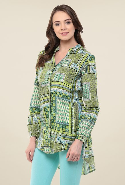 Yepme Green Emery Longline Shirt