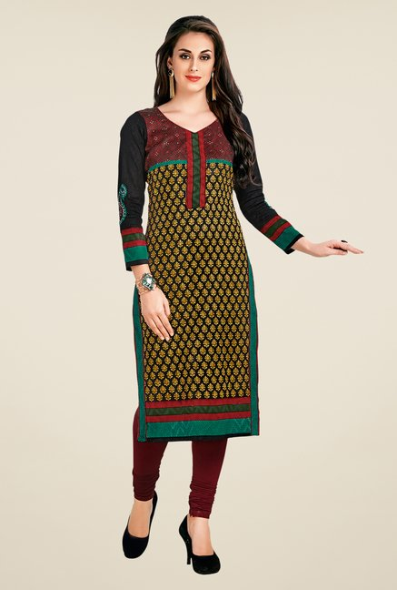 Salwar Studio Multicolor Printed Unstitched Kurti