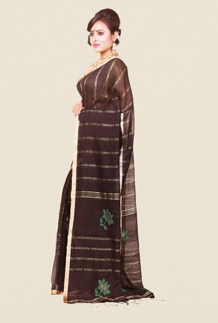 Bengal Handloom Black Silk Saree